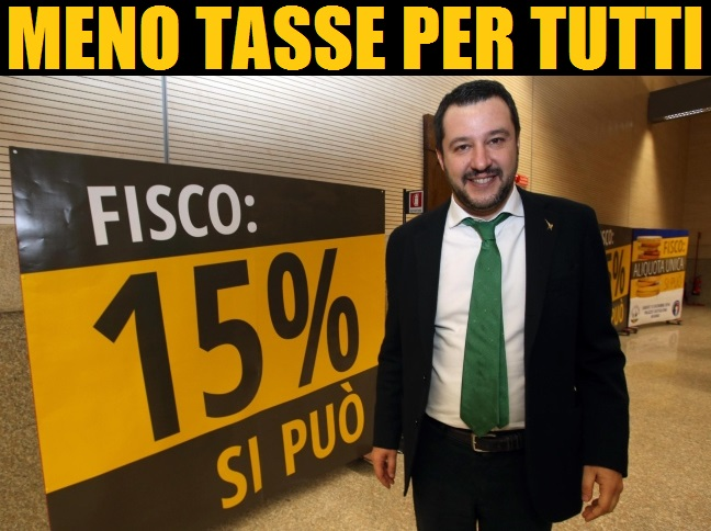Matteo Salvini in campagna elettorale