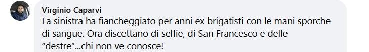 Commento di Virginio Caparvi a un articolo di Verini