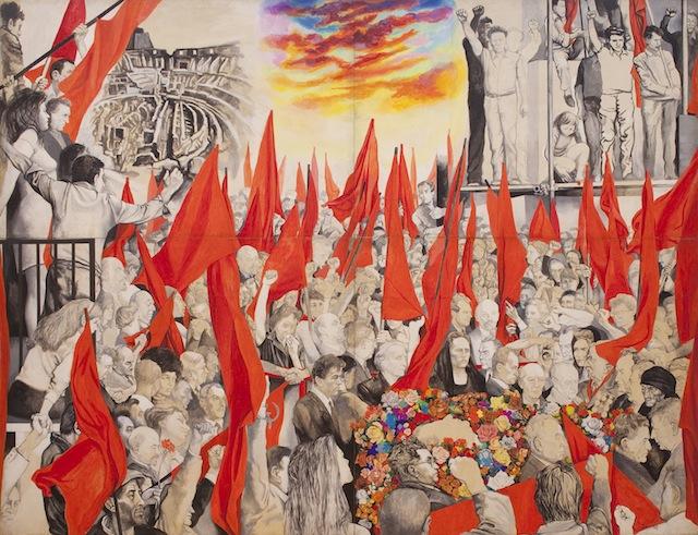 """Il quadro di Renato Guttuso """"I funerali di Togliatti"""