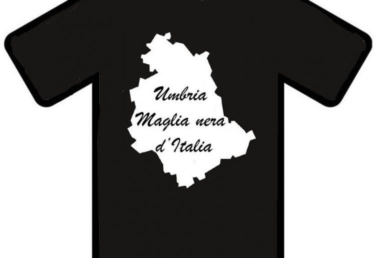 una tshirt per la campagna di protesta contro l'andamento delle vaccinazioni in UMbria