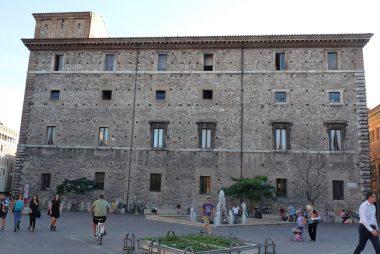Terni, la facciata di Palazzo Spada