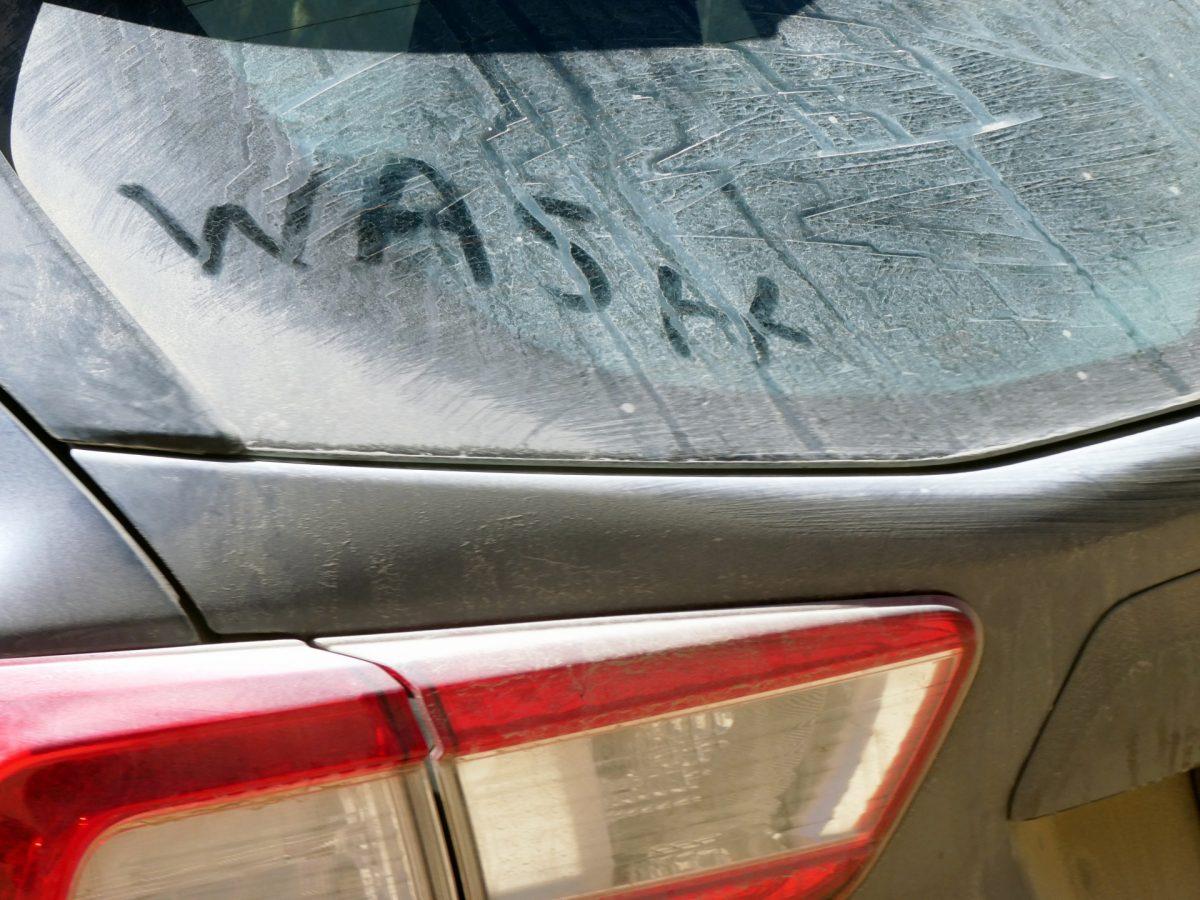 macchina sporca